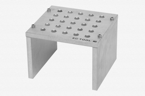 KC Tool Aluminum Bench Top Stand for Precision Tools - 25 Holes, Tumbled Finish